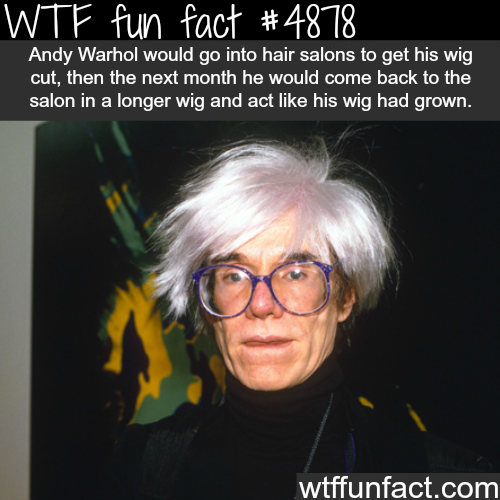 Andy Warhol unusual habit -