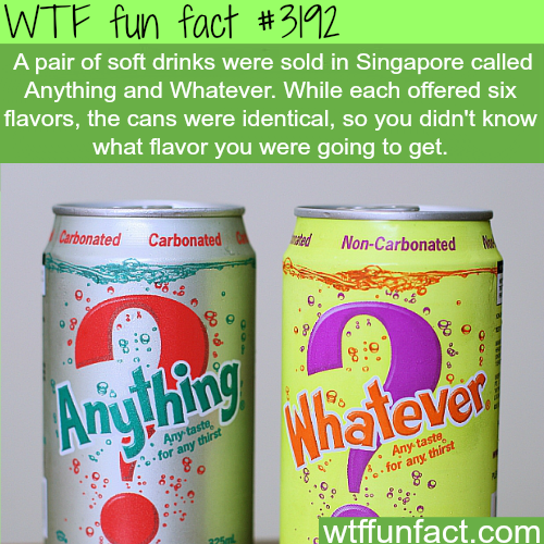 Anything and Whatever soft drinks -  WTF fun facts