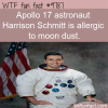 apollo 17 astronaut harrison schmitt is allergic