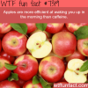 apples are better than caffeine wtf fun fact
