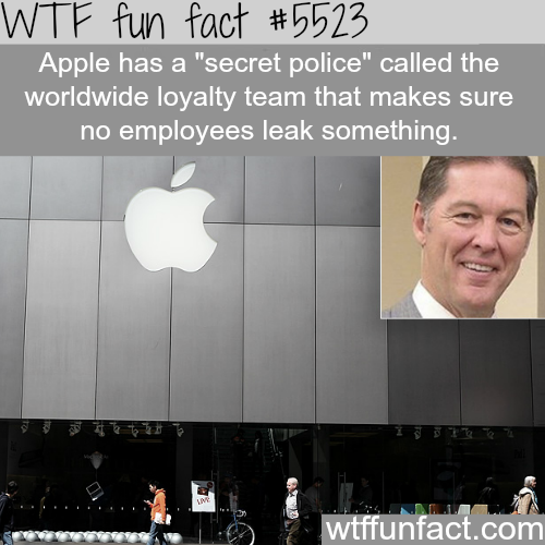 "Apple's ""secret police"" - WTF fun facts"