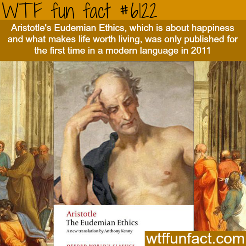 Aristotle's Eudemian Ethics - WTF fun facts