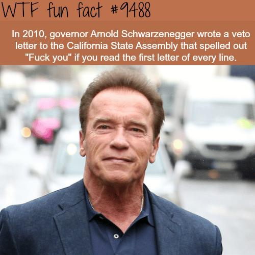 Arnold Schwarzenegger - WTF fun fact