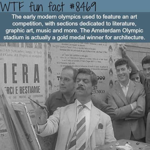 Art competition Olympics - WTF fun facts