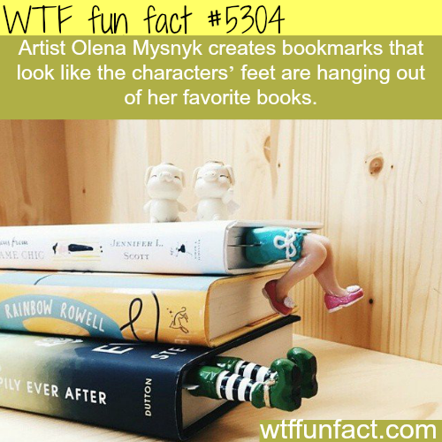 Artist Olena Mysnyk's bookmarks - WTF fun facts