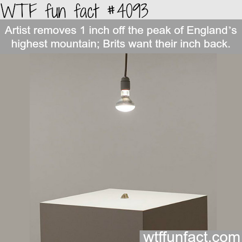 Artist removes 1 inch of the peak of England highest mountain - WTF fun facts