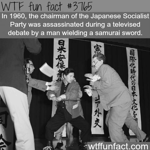 Assassination by samurai sword