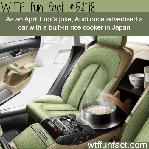 Audi's car that has a built-in rice cooker - WTF fun facts