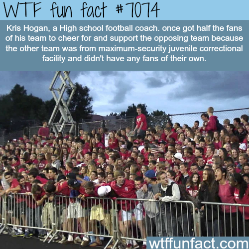 Awesome football coach gets fans to support another team - WTF fun facts