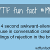awkward silence pause facts
