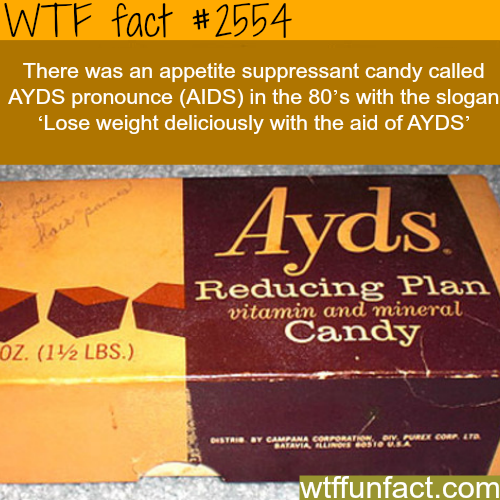 Ayds Appetite suppressant candy - WTF fun facts