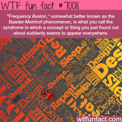 Baader-Meinhof phenomenon - WTF fun facts