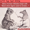 back when tigers used to smoke wtf fun facts