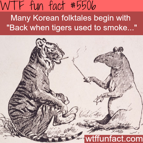 Back when tigers used to smoke - WTF fun facts