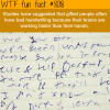 bad handwriting wtf fun fact