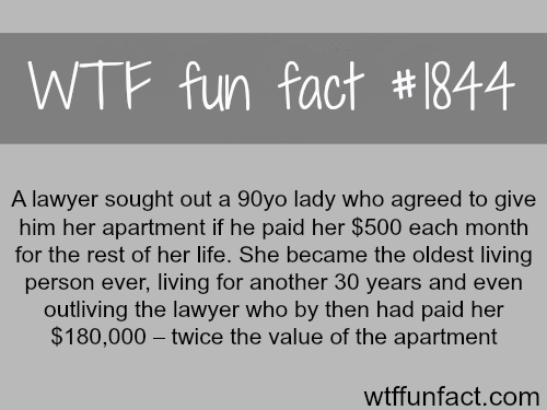 bad luck lawyer -WTF fun facts