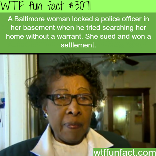 Baltimore woman VS police officer -WTF fun facts