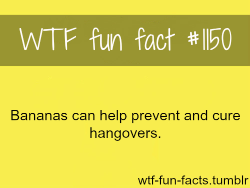 can bananas cure hangovers