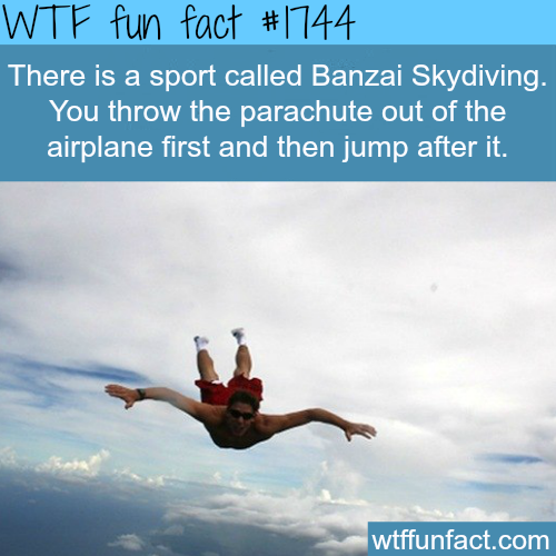 Banzai Skydiving Sport facts - WTF fun facts