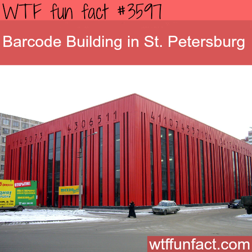 Barcode building in St. Petersburg - WTF fun facts