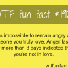 being angry on loved one