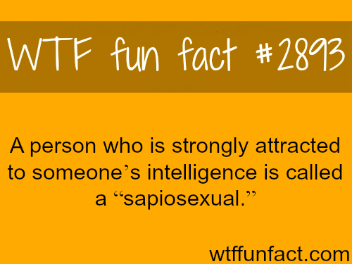 Being attracted to someone's intelligence -WTF fun facts