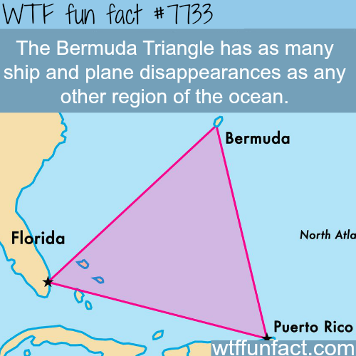 Bermuda triangle is fake - WTF fun facts
