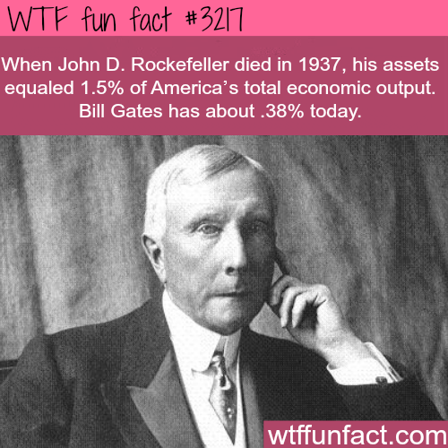 Bill Gates vs John D. Rockefeller real networth -  WTF fun facts