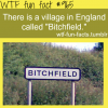 bitchfield england funny places