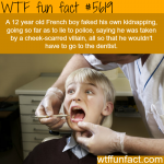 boy fakes own kidnapping to avoid going to dentist
