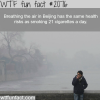 breathing the air in beijin china