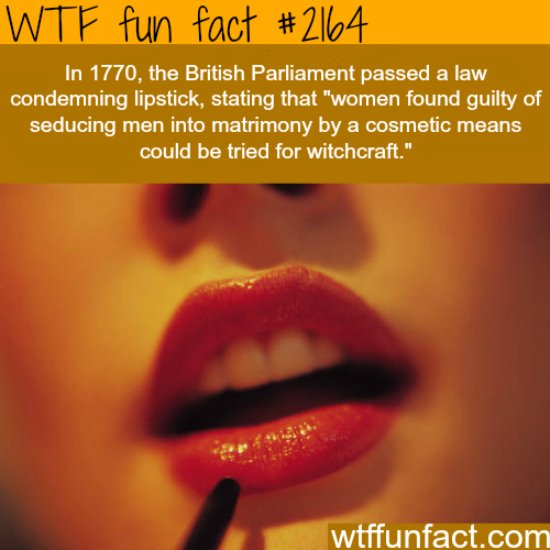 British Parliament lipstick ban - WTF fun facts