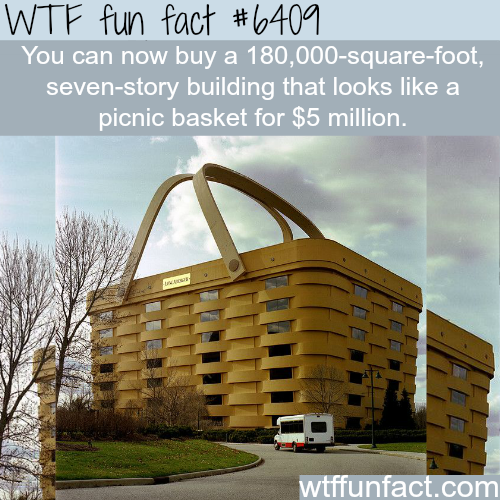 Building shaped like a picnic basket is up for sale - WTF fun facts