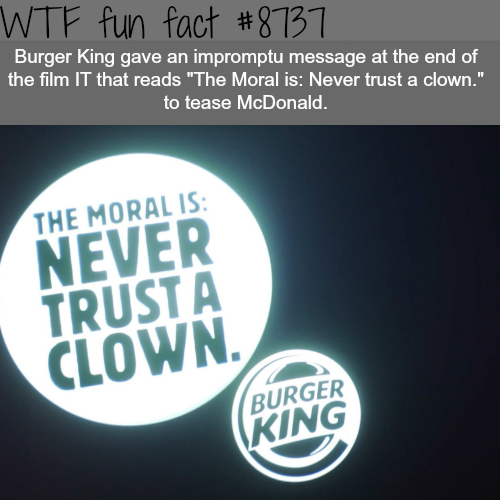 Burger King Ad - WTF fun facts