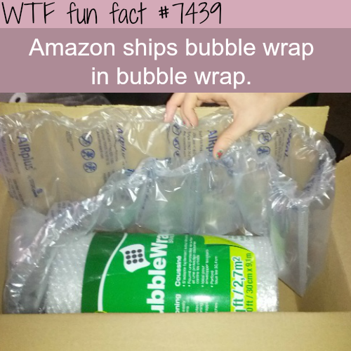 Buying bubble wrap from Amazon - Facts