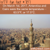 cairo and antarctica were the same temperature