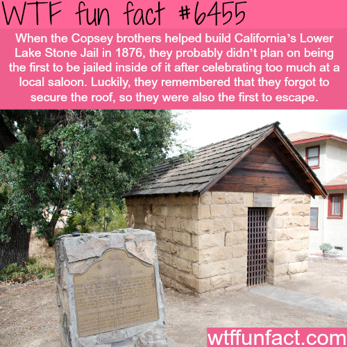 California's Lower Lake Stone Jail - WTF fun facts