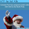 canada north pole postal code h0h 0h0 wtf fun