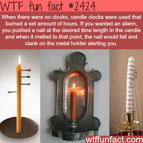 candle clocks - WTF Facts