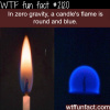 candle s flame in zero gravity