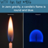 candles flame in zero gravity wtf fun facts