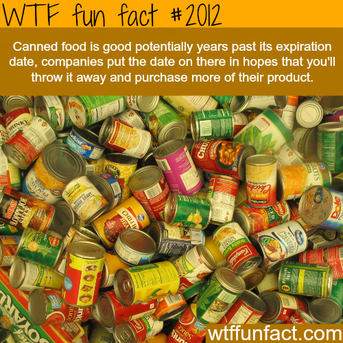 Canned food facts - WTF fun facts