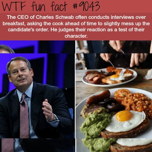 Charles Schwab CEO - WTF fun facts