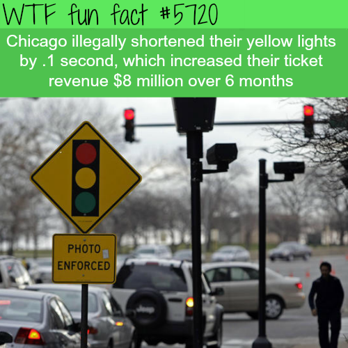 Chicago's red light tickets - WTF fun facts