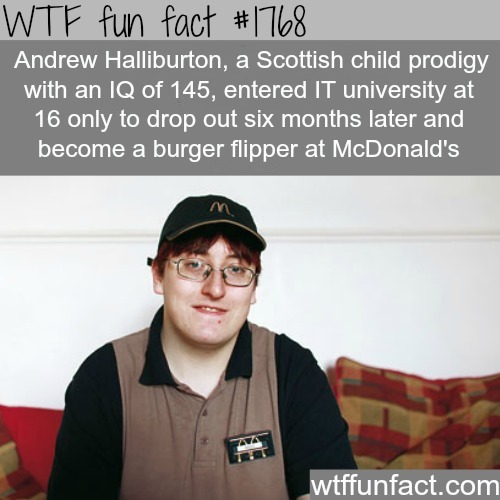 Child Prodigy works at McDonalds - WTF fun facts