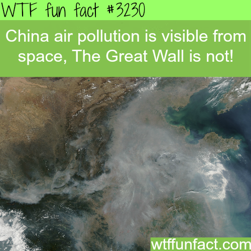 China air pollution as seen from space -  WTF fun facts