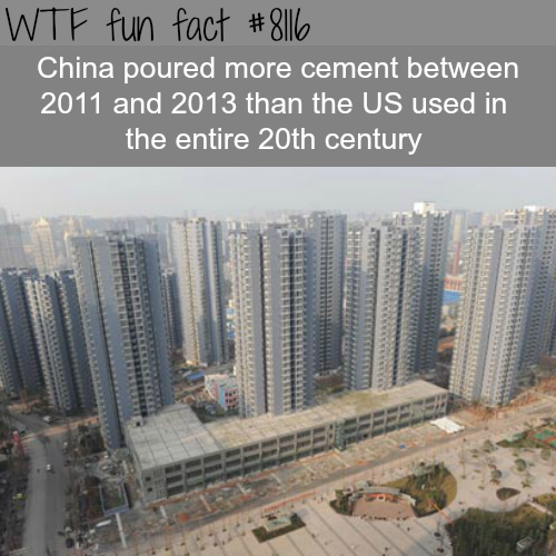 China is the king of cement - WTF fun facts