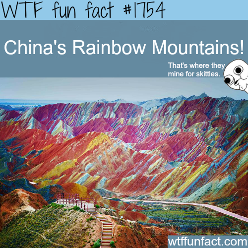 China's Rainbow Mountains - WTF fun facts