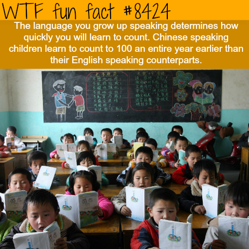 Chinese children learn to count faster than English speaking kids - WTF fun facts