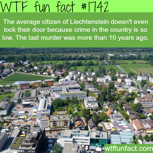 cities/countries with the least crime rate -WTF fun facts